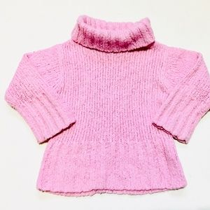 H&M Pink Knit Turtleneck Sweater